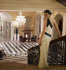 Das Foyer des Luxushotels Claridge's in London